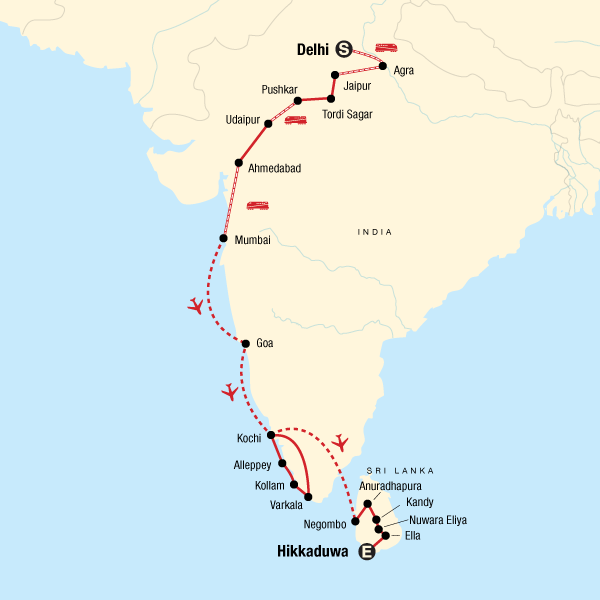 Discover India & Sri Lanka: Plantations & Pink Cities on map hong kong, map india world, map india indus river, map india pakistan, map cambodia, map singapore, map india china, map india maldives, map india afghanistan, map india syria, map india himalayas, map india united states, map brazil, map malaysia, map australia, map india thailand, map india to japan, map india tibet, map india mauritius, map india bangladesh,