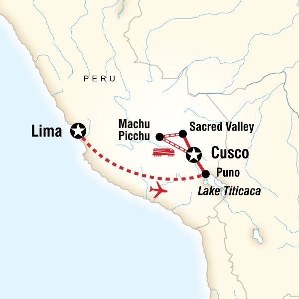 Lake Titicaca Machu Picchu Independent Adventure In Peru South - How far is machu picchu from lima