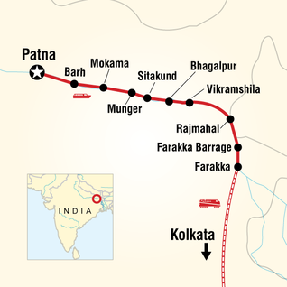 Map of Ganges River Cruise Adventure