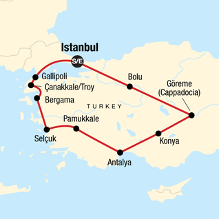 Map of Absolute Turkey: Winter