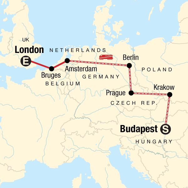 London Map Images.Budapest To London On A Shoestring