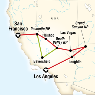 Map of Western Express Northbound