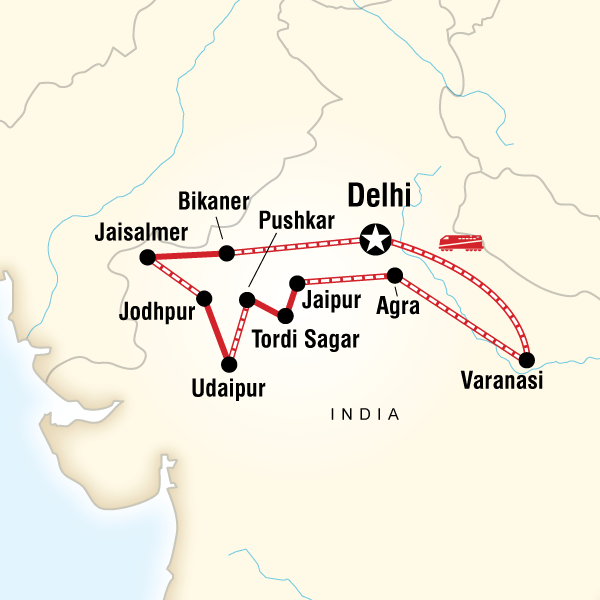 Rajasthan and Varanasi on a Shoestring in India Asia G Adventures
