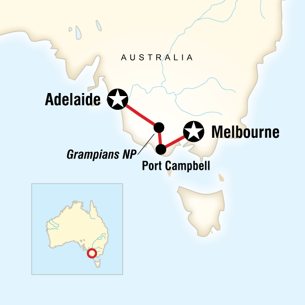 Great Ocean Road WestMelbourne to Adelaide in Australia