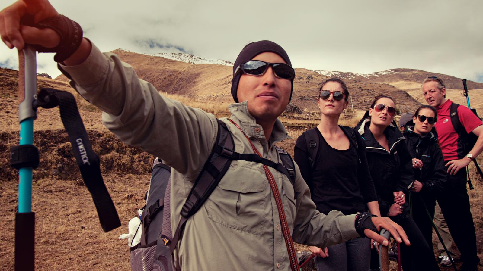 CEO leads the group through the Lares trek in Peru