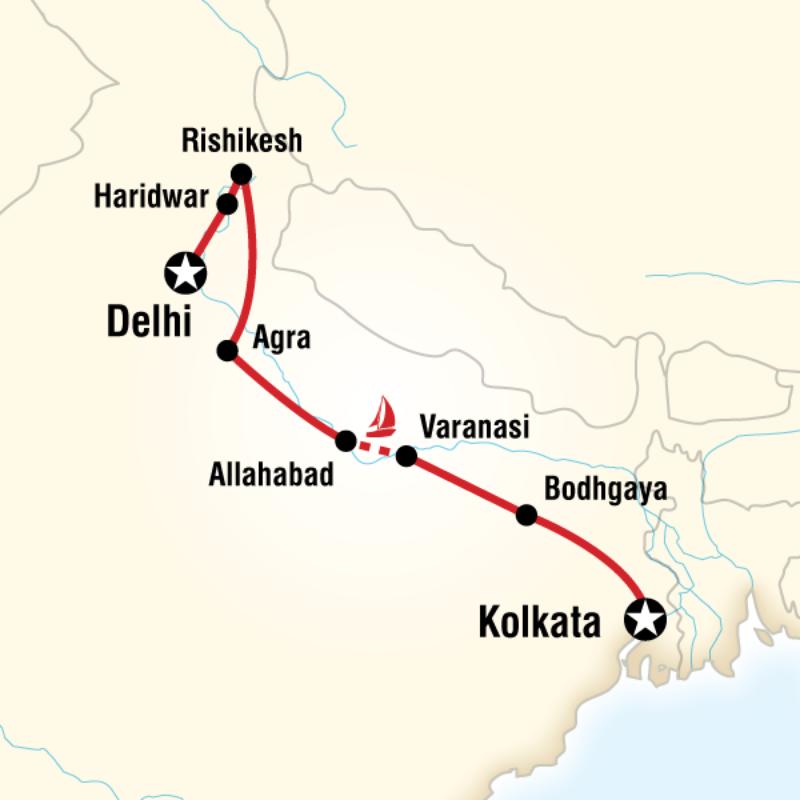 Unsere Tour mit G-Adventures von Delhi nach Kolkata