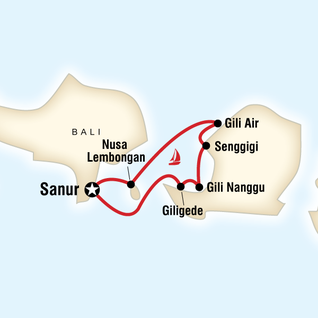 Map of Sailing Indonesia – Bali & Lombok