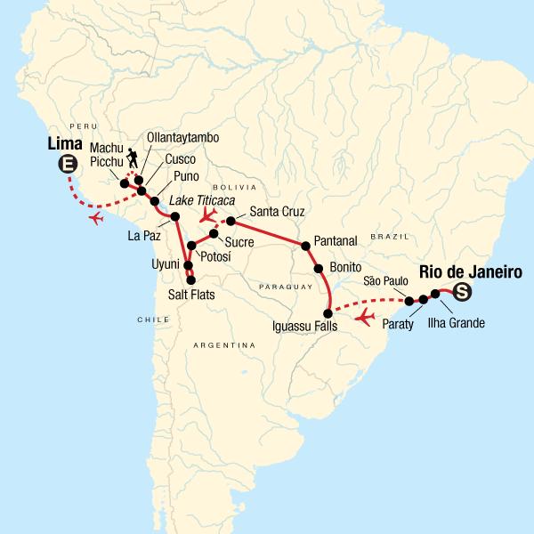 Rundreise durch Südamerika – Von Rio de Janeiro nach Lima