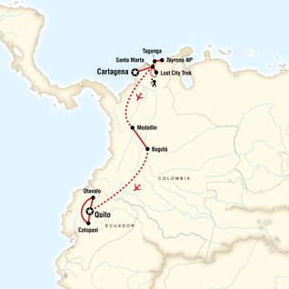 Colombia through the Andes–Cartagena to La Paz in Colombia ...