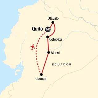 Map of Highlands of Ecuador