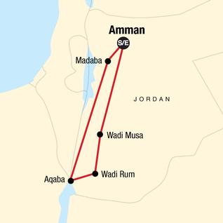 Map of Essential Jordan: Dead Sea & Desert Stars