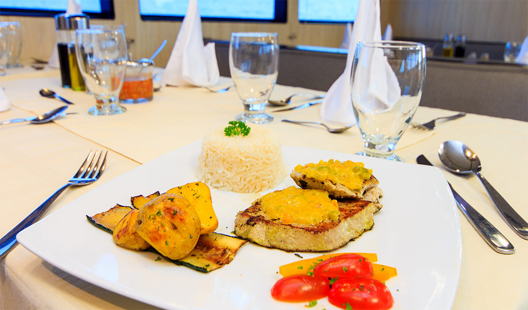 Meal aboard the Monserrat