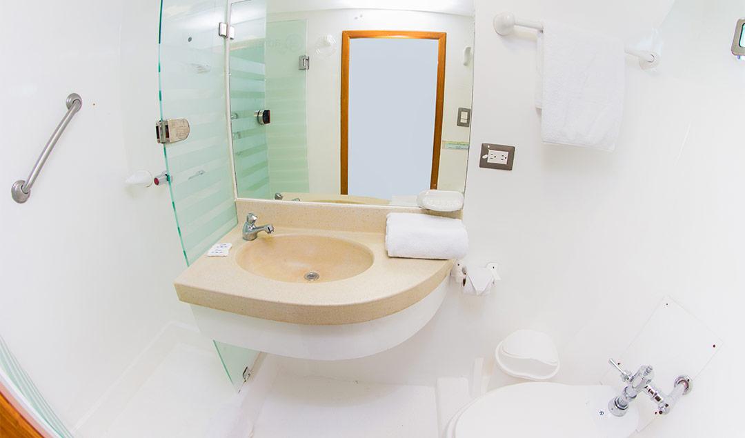 Interior cabin washroom