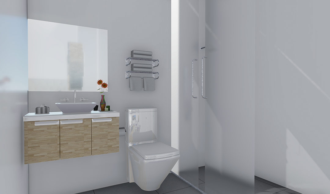 Interior washroom - rendering