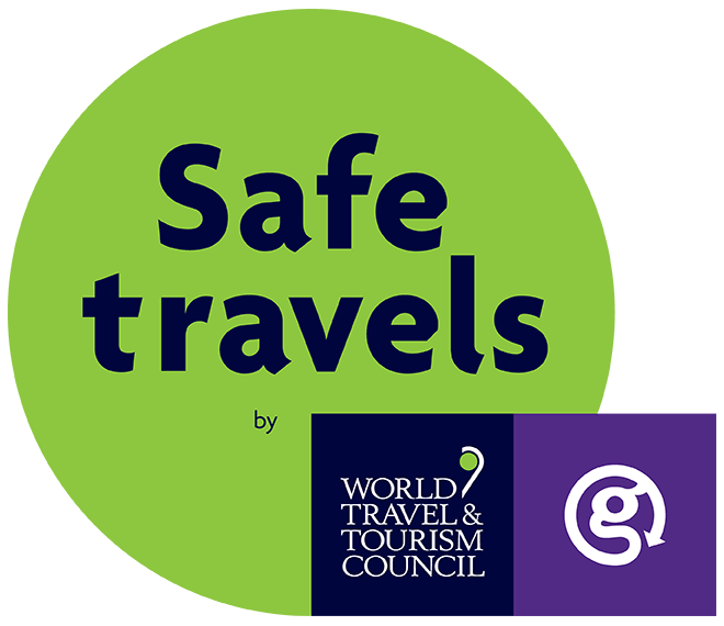 Safe Travels - we have implemented health and hygiene protocols that are aligned with WTTC's Safe Travels Protocols.