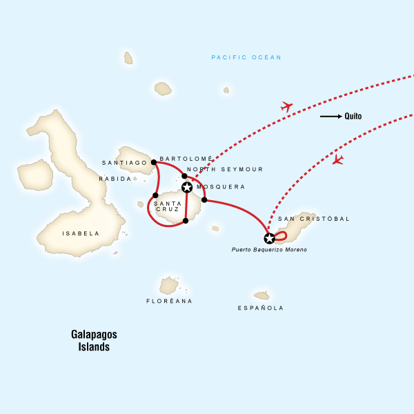 Galбpagos Land & Sea — Central Islands aboard the Queen of Galбpagos