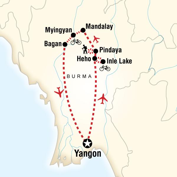 Map of Cycle Myanmar