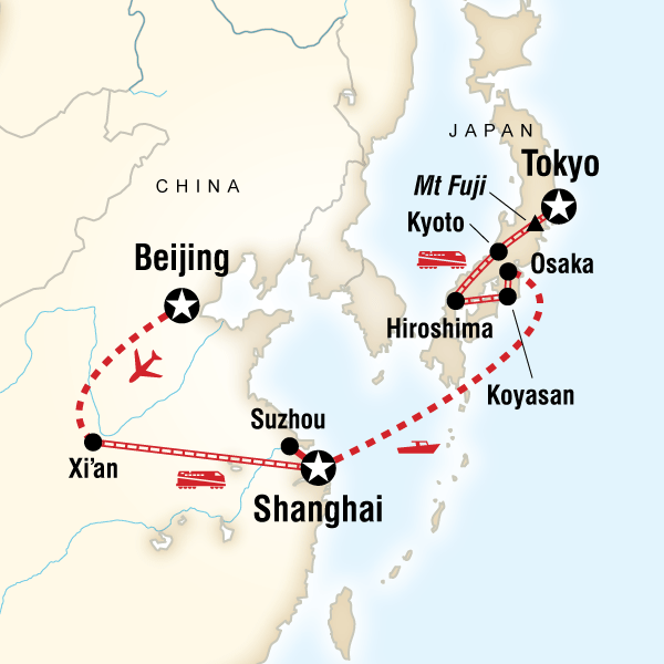 Map of Ancient Empires—Beijing to Tokyo