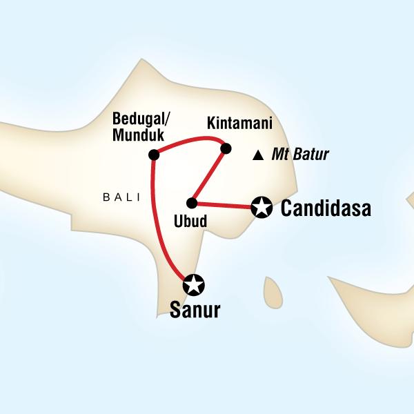 Map of Classic Bali