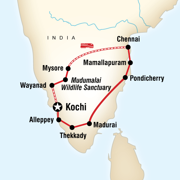 Map of Best of Southern India