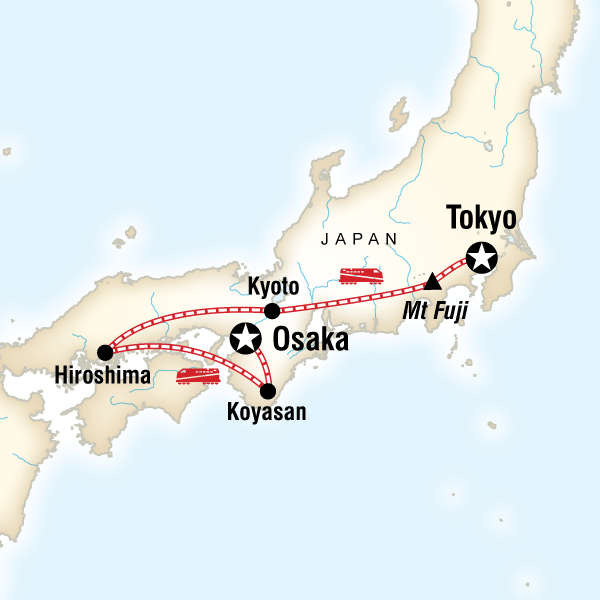 Japan Express Osaka To Tokyo In Japan Lonely Planet - Japan map lonely planet