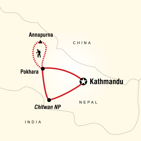 Map of Nepal Adventure