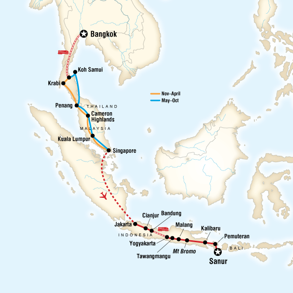 Bangkok to Bali on a Shoestring