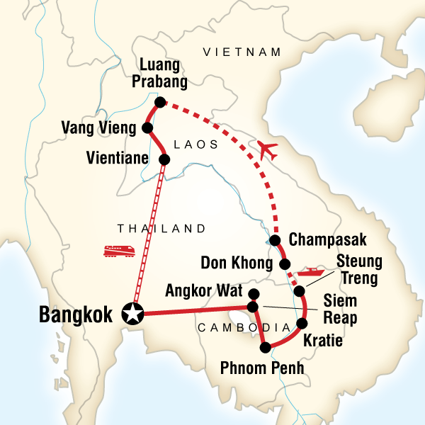 Cambodia Laos Mekong Adventure In Bangkok Thailand Lonely Planet - Sweden map lonely planet