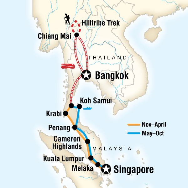 Map of Southeast Asia on a Shoestring