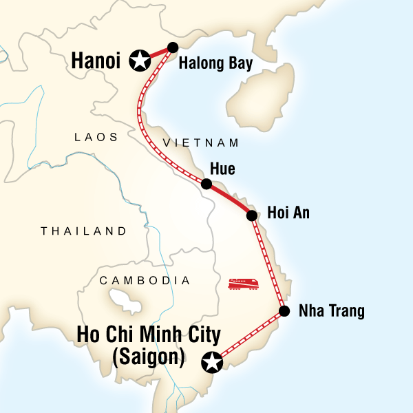 Map of Vietnam on a Shoestring