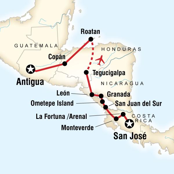 Volcano Adventure – San Josй to Antigua