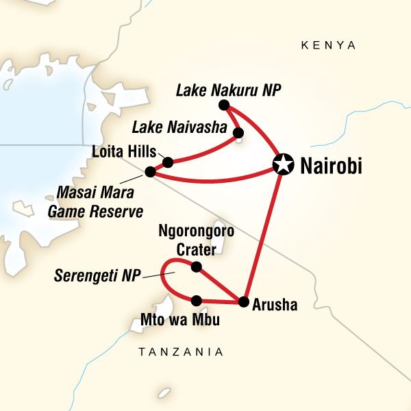 Kenya & Tanzania Overland Express (Nairobi Loop)