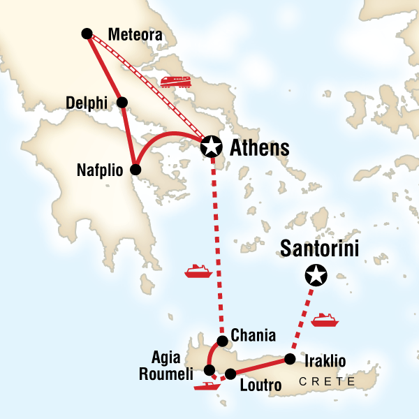 Map of Best of Greece