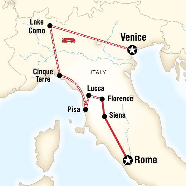 Map of Ultimate Italy