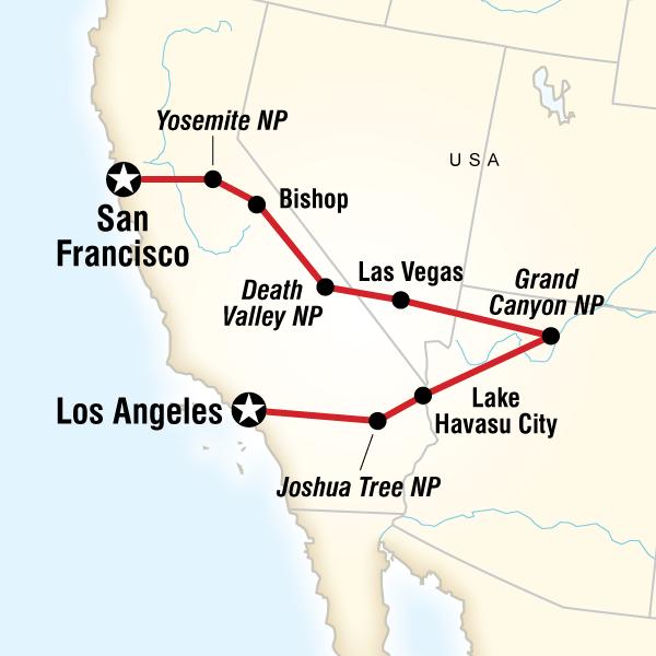 Map From Las Vegas To San Francisco Michigan Map - San fransisco us map