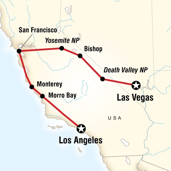 Map of Sin, Surf & Sierras