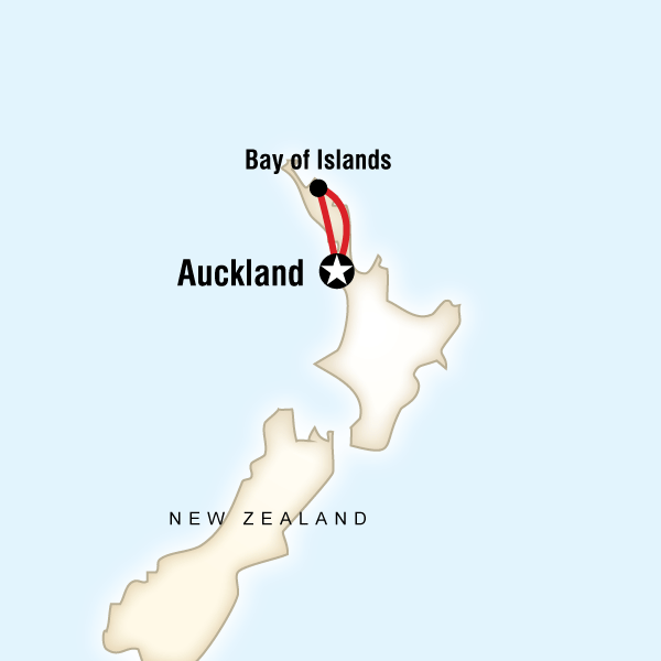 Map of New Zealand–The Bay of Islands