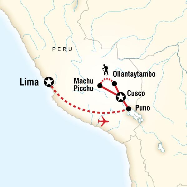 Map of Classic Peru