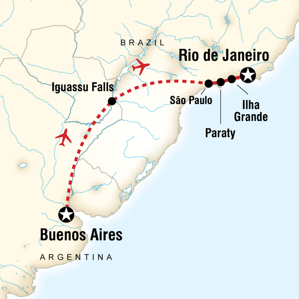 Map of Iguassu & Beyond