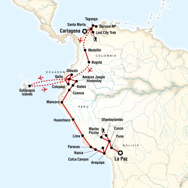 Colombia, Andes & Galápagos