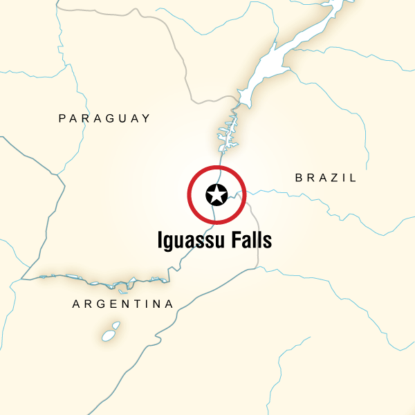 Iguassu Falls Independent Adventure Map
