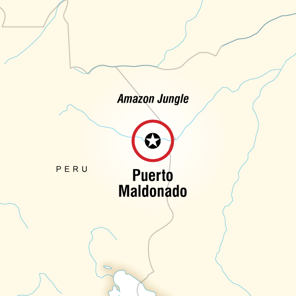 Map of G Lodge Amazon - 5 Day Independent Adventure