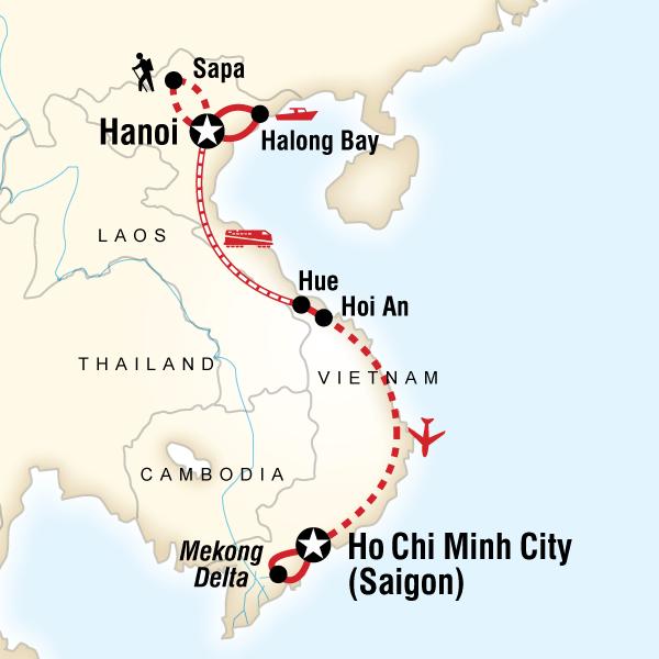 Map of Best of Vietnam