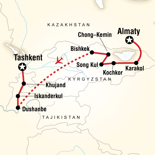 central asia and almaty Central asia adventure - almaty to tashkent, a 14 day tour from almaty to karakol, kochkor and 6 destinations best selection - best price - trusted payments.