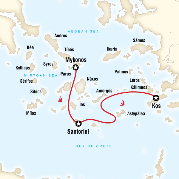 Sailing Greece Kos to Mykonos in Amorgos Lonely Planet