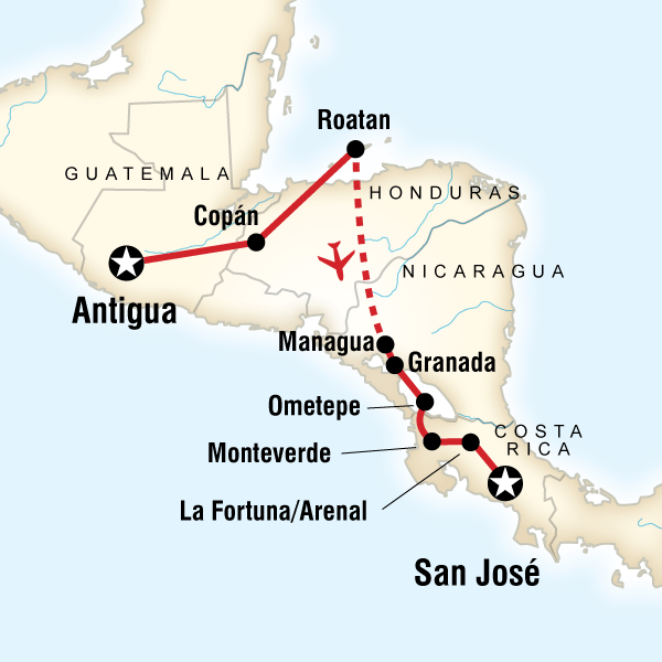 Map of Volcano Trail