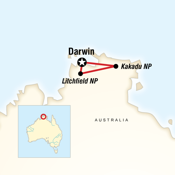 Map of Kakadu Adventure