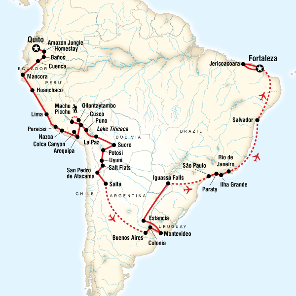 The Great South American Journey–Quito to Fortaleza