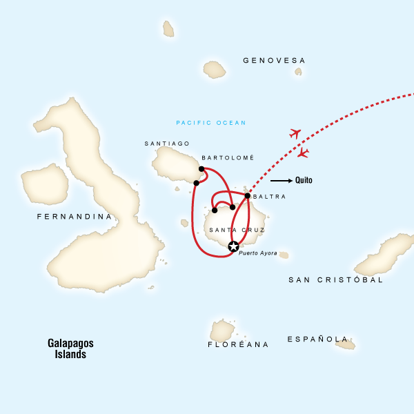 Galбpagos Land & Sea — Central Islands aboard the Monserrat