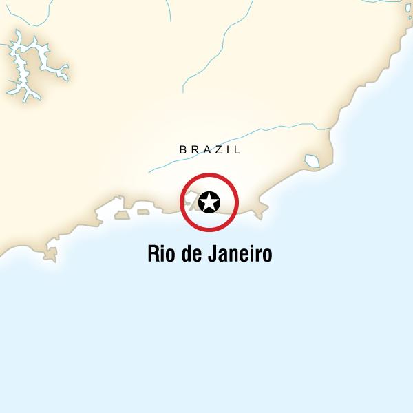 Itinerary map of Rio De Janeiro Carnival Experience